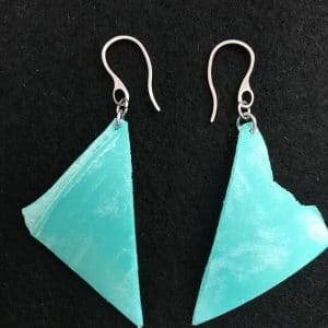 Ethical Earrings in aqua