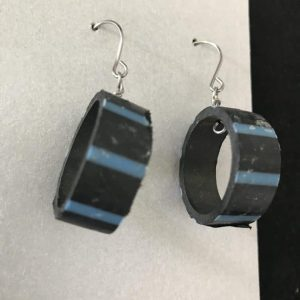 Environmental Earrings Made From Recycled Crab Pot Tubing