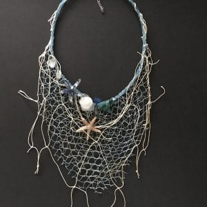 Aster, one of a kind necklace