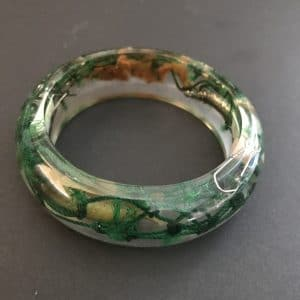 Recycled Dark Green Fishing Net Bangle