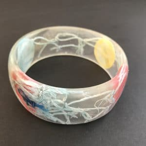 Pale Blue Marine Debris Bangle