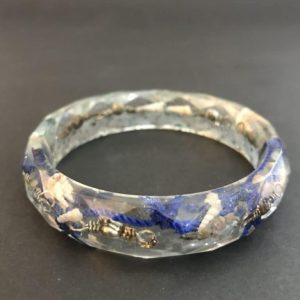 Caste and Fishing Net Resin Bangle