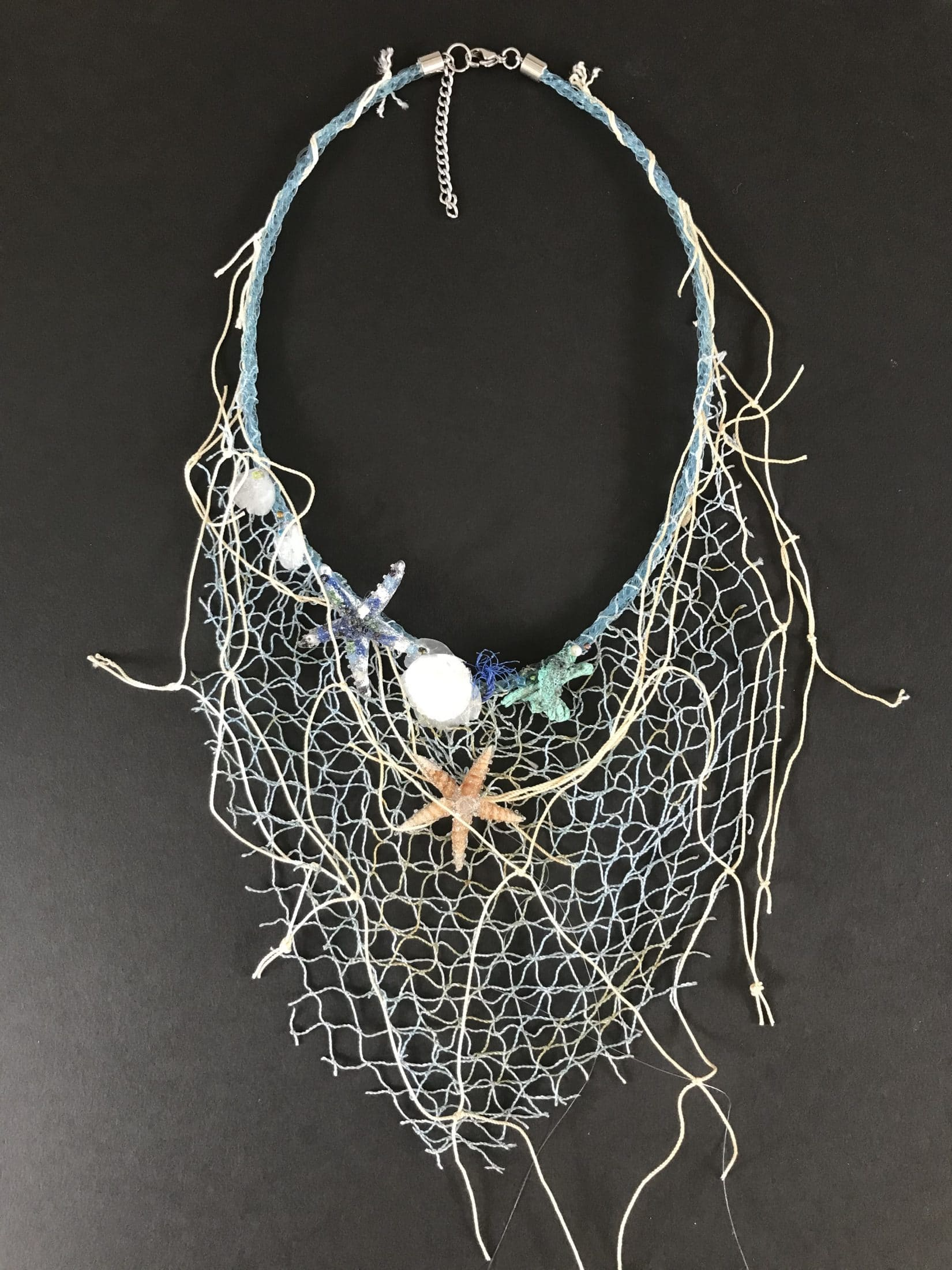 Ocean Theme. PMC Artisan crafted \u201cCoral Reef Friends\u201d Necklace with Lab Ruby