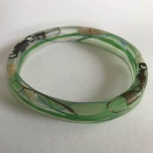 Bangle with Plastic Green Bottle Top