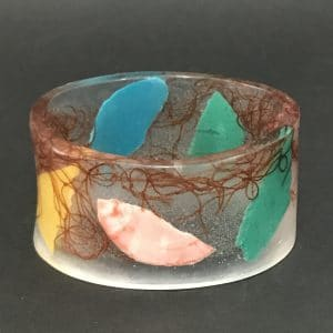 Red, Green and Yellow Marine Debris Bangle