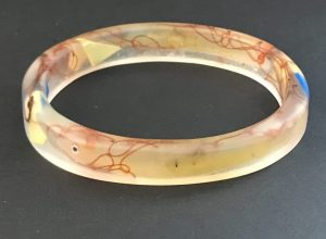 Hand Made Eco Bangle With Marine Debris.