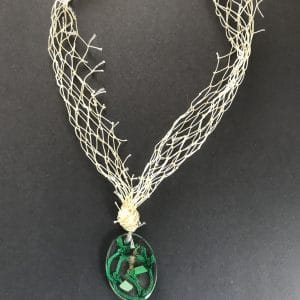 Dark Green Fishing Net Necklace