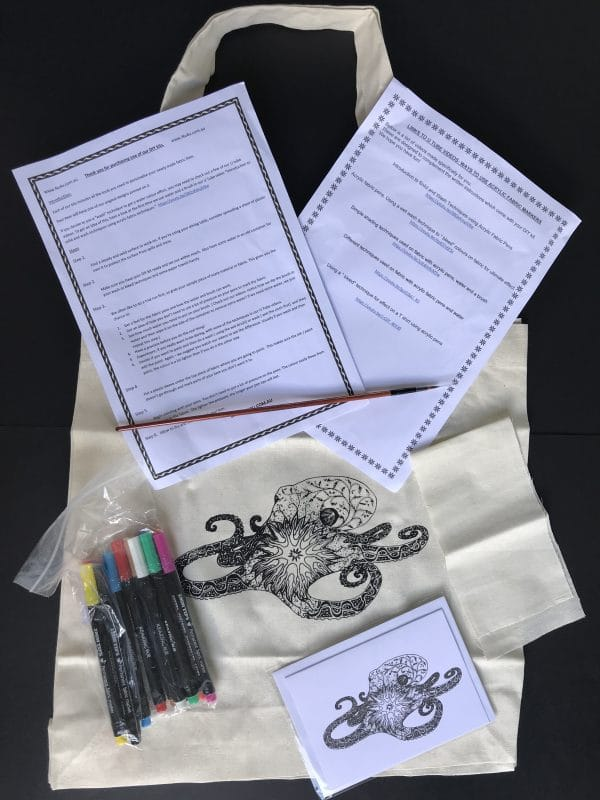 Create your Own Hand Colored Bag Kit