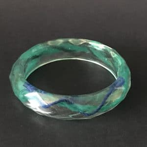 Blue And Green Resin Bracelet