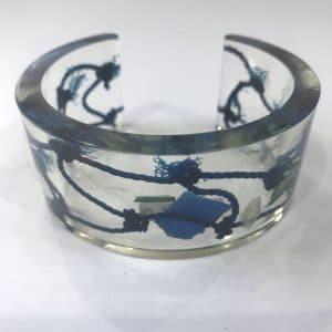 Dark Blue Bangle With Fishing Net