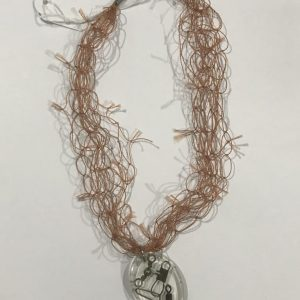 Rust Cast Net And Fishing Tackle Necklace