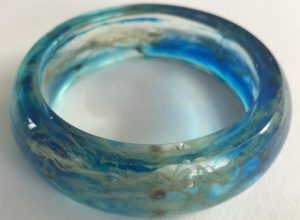 Ocean Blue Resin Bangle
