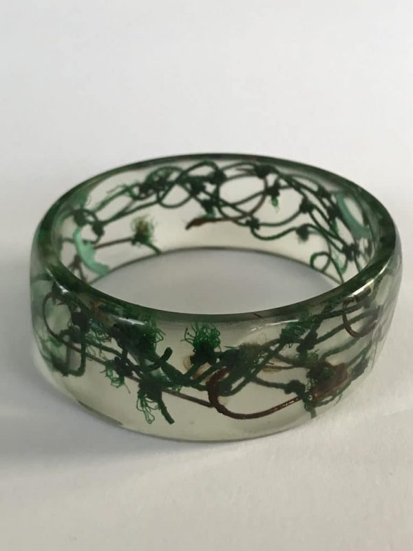 Dark Green Marine Debris Bangle