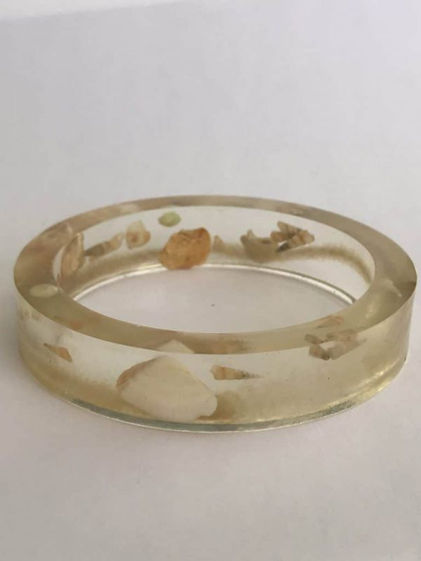Shell and Rope Bio resin Bangle