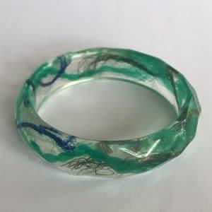 Blue And Green Resin Bracelet