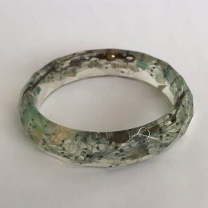 Bio Resin Bangle with Caste Netting