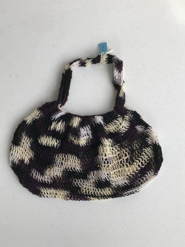 Hand Woven Traditional Bag In Black, Cream And White