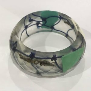 Bio Resin Bangle with Marine Plastic