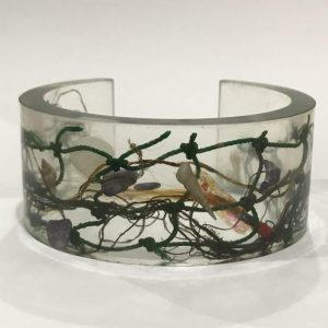 Dark Green Bio Resin Cuff