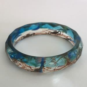 Blue Bracelet With a Message