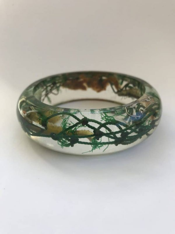 Recycled Dark Green Fishing Net Bangle