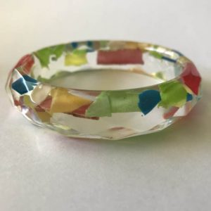 Cheerful Bio Resin Bangle With Marine Plastic Waste
