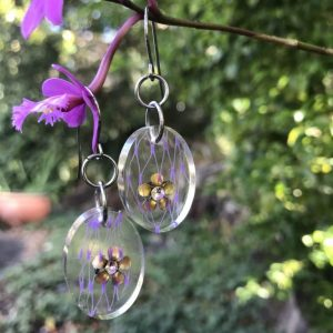 Vegan Earrings Hand Made With Recycled Plastic Net