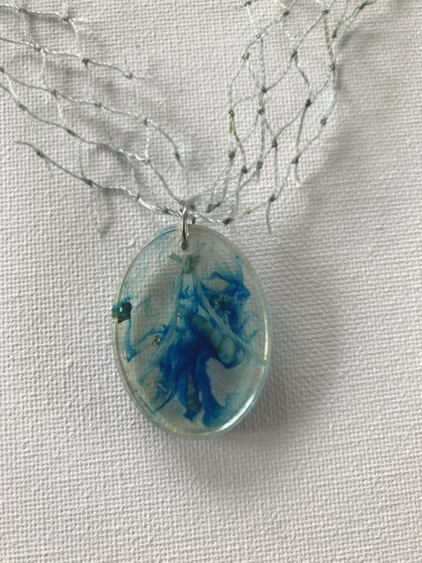 Bio Resin Necklace With Discarded Fishing Net