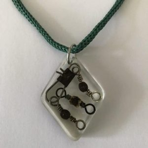Reclaimed Marine Rope And Fishing Tackle Necklace