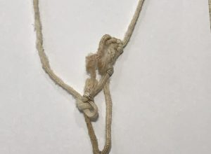 Recycled Marine Rope And Feathers Necklace