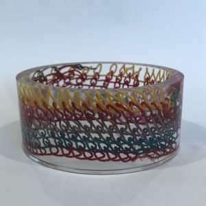 Bio Resin Bangle with Marine Debris