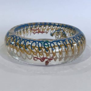 A Trash to Treasure Resin Bangle