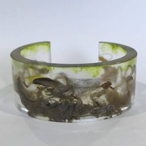 Bio Resin Bangle With Reused Marine Rope