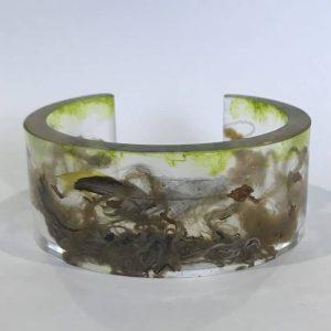 Bio Resin Bangle With Reused Marine Rope