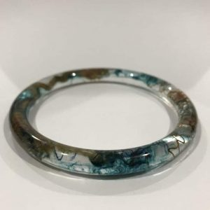 Blue And Brown Eco Stacker Bangle