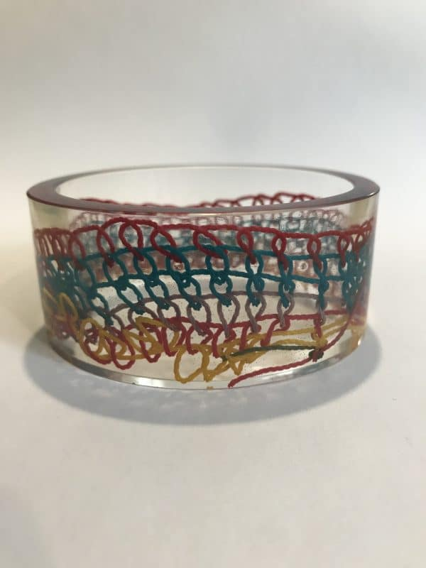 Bangle With Colorful Woven Cord